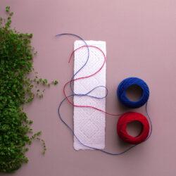 Noarootsi kirivöömustriline niidik paberile tikkimiseks
